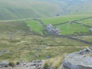 Hog Dyke scout hostel from the severe scree part of the above hill