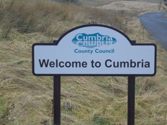 Printing error - The sign should read, Welcome to Westmorland